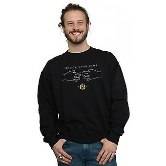 DC Comics Men's Birds Of Prey Black Mask Club Sweatshirt