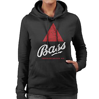 Bass Red Triangle Classic Logo Women's Hooded Sweatshirt