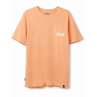 Animal Sconna Short Sleeve T-Shirt in Coral Sands Orange
