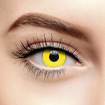 Yellow i-Glow UV Colored Contact Lenses (30 Day)