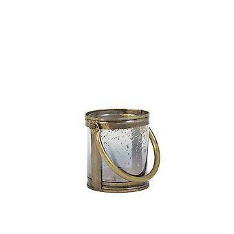 Licht en levende orkaan 14x12cm Bornes Glas antiek en handvat brons