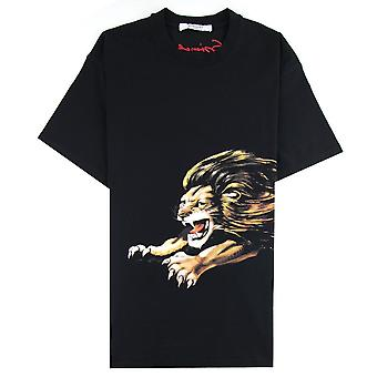 Givenchy Lion Print Oversized Fit T-shirt Black