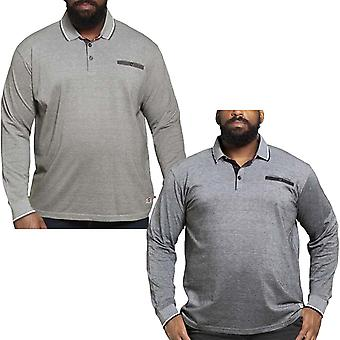 Duke D555 Mens Brockville Big Tall King Size Long Sleeve Casual Polo Shirt Top