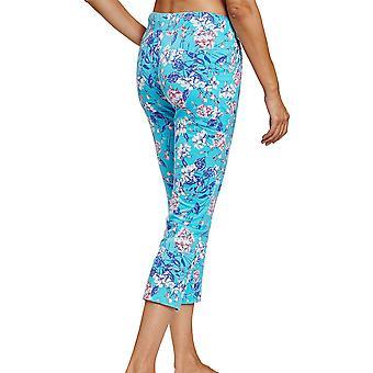 Rösch 1202030-16501 Women's Be Happy Blue Summer Bloom Floral Pyjama Pant