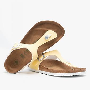 Биркенсток Gizeh 1018152 (рег) Дамы Веганский Toe Post сандалии щеткой ванили