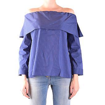 Liviana Conti Ezbc261041 Women's Blue Cotton Top