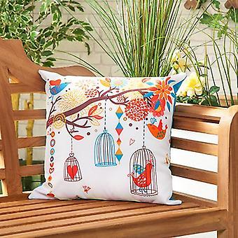 Vogel Song wasserdicht E-Leinwand Outdoor Scatter Garten gefüllt Kissen gedruckt 18