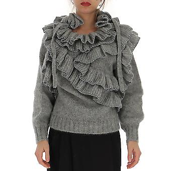 Alberta Ferretti 09465106a4487 Women's Grey Cashmere Sweater