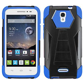 ASMYNA Inverse Advanced Armor Stand Case for OneTouch Pop Astro - Blue