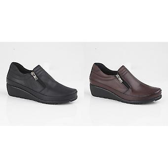 Mod Comfys Womens/Ladies Zipped Gusset Casual Leather Shoe