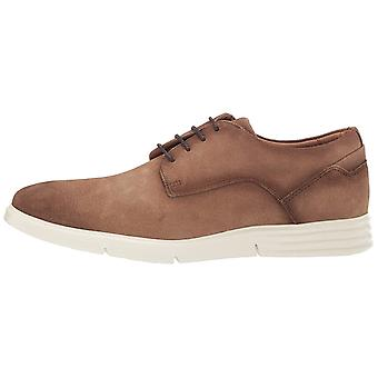 Driver Club USA Men's Leather Naples Light Weight Technology Oxford Laceup Sneaker
