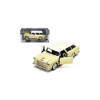 MotorMax American Classics - 1955 Chevy Bel Air Nomad Cream 1:24