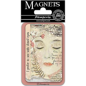 Stamperia Suljetut silmät 8x5,5cm magneetti
