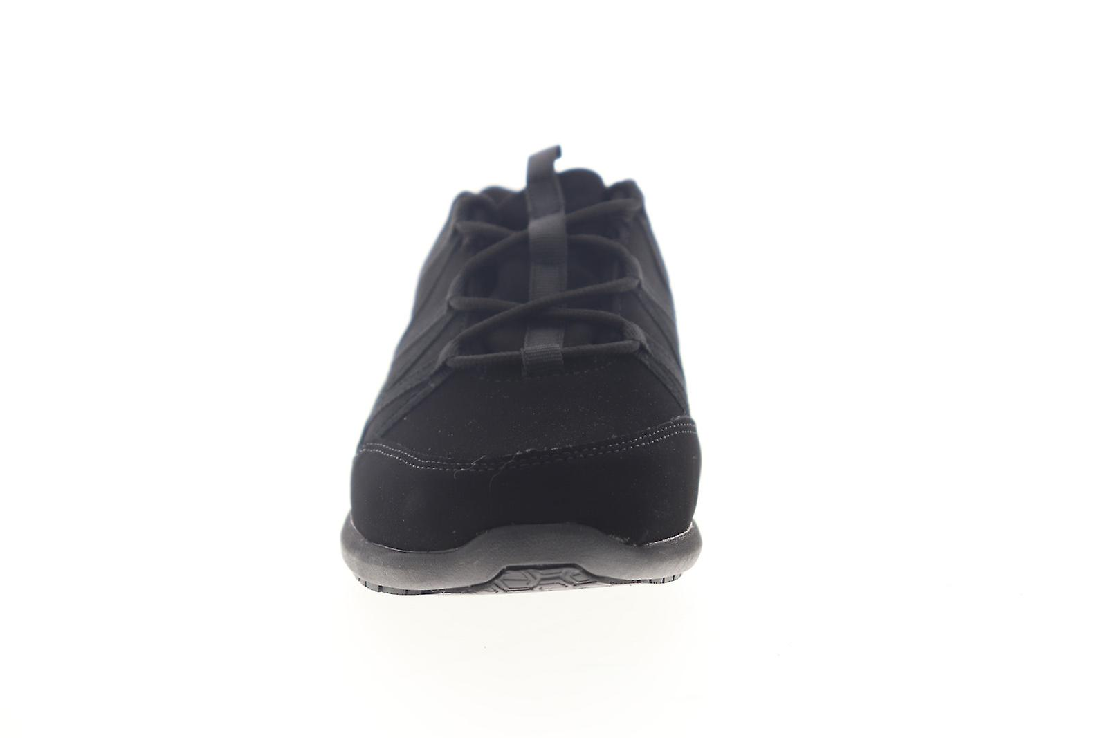 Emeril Lagasse Conti Nubuck Womens Black Wide 2e Leather Low Top Sneakers Shoes