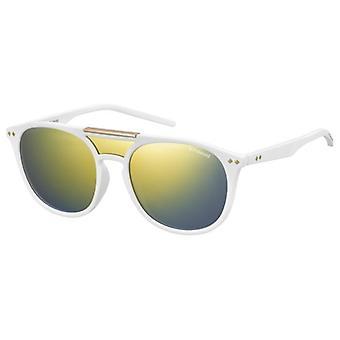 بولارويد PLD6023/S V63/LM ماتي الأبيض / بولاريس رمادي الذهب مرآة النظارات الشمسية