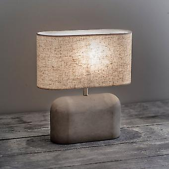 Hage trading Millbank skive bordlampe i en polymer betong