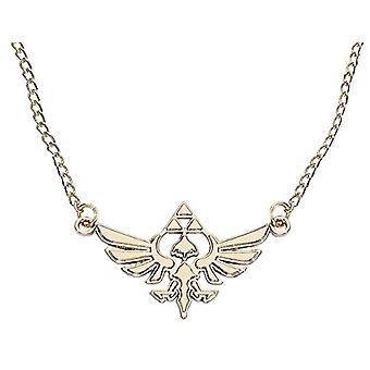 Zelda JE101317ZEL Nintendo Golden Necklace with Hyrule Metal Pendant (One Size)