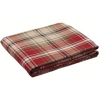 Angus skotskternet check rød + hvid tabel runner