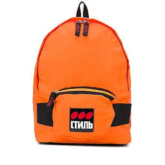 Heron Preston Ezcr020008 Men's Orange Fabric Backpack