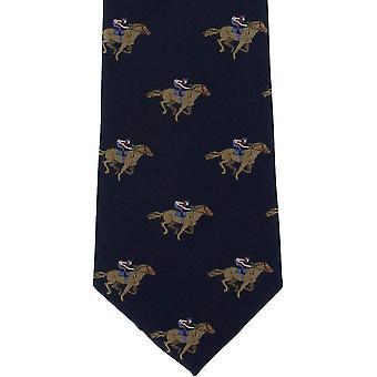 מייקלסון של לונדון מרוצי סוסים משי עניבה-חיל הים