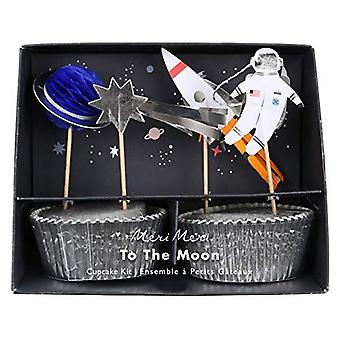 Meri Meri Space To The Moon Cupcake Kit / Space Party 24 Cases and Toppers
