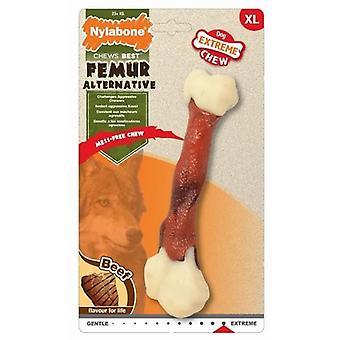 Nylabone Beef Flavoured Faux Femur Bone Dog Chew Toy