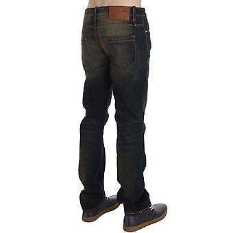 Blue Wash Cotton Regular Straight Fit Jeans SIG30478-1