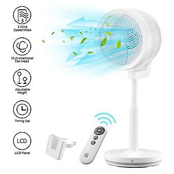 Yescom Air Circulator Fan Oscillating Pedestal Fan Remote Control Stand Fan Quiet Adjustable 3 Speed Home Bedroom White