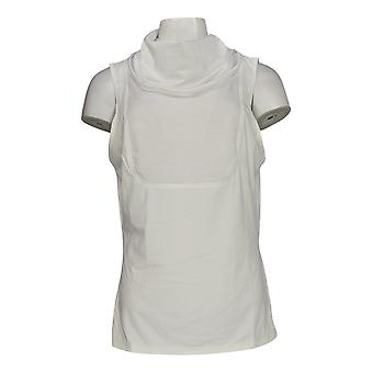 Kathleen Kirkwood Women's Top Dictra-Ease Cowl-Neck White A369103