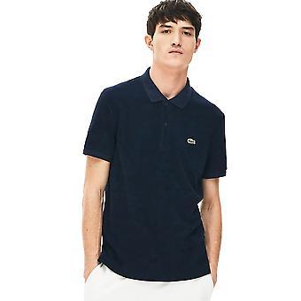 Lacoste Herren 2020 PH5474 gerippt 2 Knopf bestickt Krokodil Polo Shirt