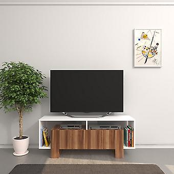 Mobile Porta TV Melville Color Bianco, Legno in Truciolare Melaminico 120x33,2x47,5 cm