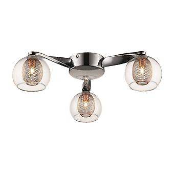 Liverpool Copper Ceiling Light 3 Lights