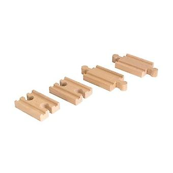 BRIO Mini Straight Track Pack 33393 Wooden Railway Extra Track