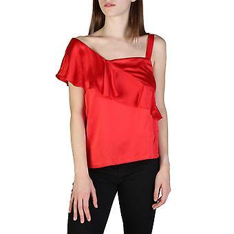 Femeie din mătase fără mâneci de top v-gât t-shirt top ae73079