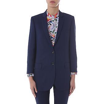 Ps By Paul Smith W2r108jbb3040849 Women's Blue Wool Blazer