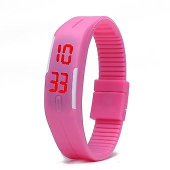LED腕時計 - ピンク