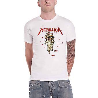 Metallica T Shirt One Landmine Band Logo nieuwe Officiële Mens White