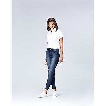 العثور. المرأة & apos;ق نحيل منتصف ارتفاع جينز تمتد, الأزرق النيلي, W36 x L32