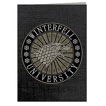 North University Game Of Thrones Greeting Card