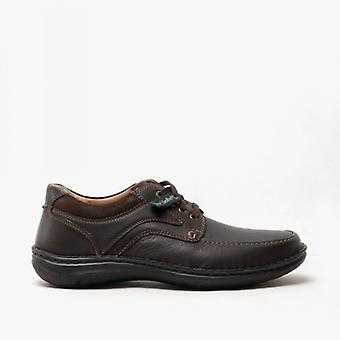 Josef Seibel Anvers 62 Mens Leather Wide Fit Shoes Brown