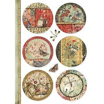 Stamperia Райс бумага A4 Восточные сферы