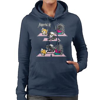 Aggretsuko Washimi Yoga Class Women's Hooded Sweatshirt