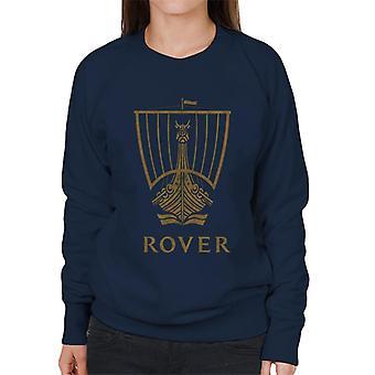 Rover Logo Gold Longship British Motor Heritage Women's Sweatshirt