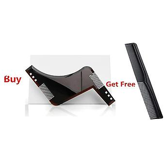 Beard Shaping Template Shower Salon Styling Comb Care Brush