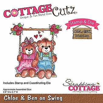 Scrapping Cottage CottageCutz Chloe & Ben on Swing