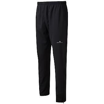 Ronhill vardagliga träning mens stretchig värma upp rinnande byxor/tracksters alla svarta