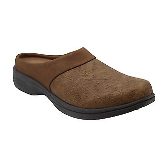 Easy Street Women's Shoes Cozy Leather Closed Toe Slip On Slippers