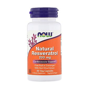 Natural Resveratrol 60 vegetable capsules