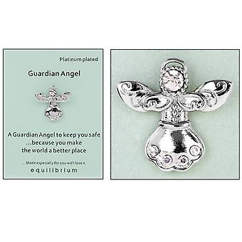 Platinum Plated Guardian Angel Pin Badge - Better Place - Cracker Filler Gift