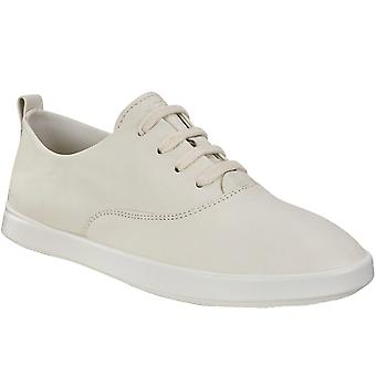 Ecco Womens Leisure Leather Lightweight Fashion Trainers  - Beige